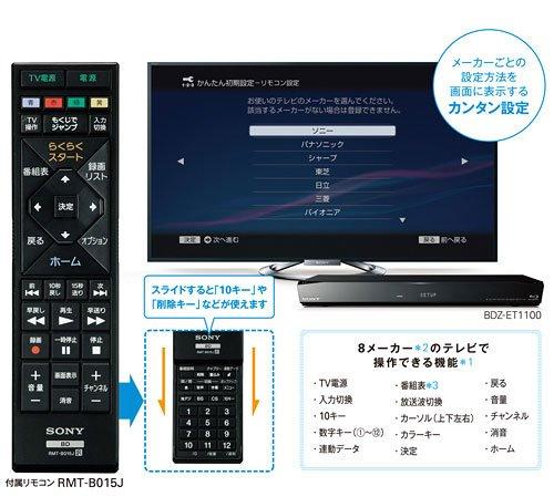 ソニー SONY RMT-B015J [ブルーレイディスクレコーダー用 リモコン 149262812]