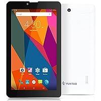 """YUNTAB(JP) 7インチ android タブレット 7""""tablet クアッドコア IPS液晶 WI-FI/GPS/BT4.0/デュアルsimスロット 3G通話タブレット google play搭載 (白)"""