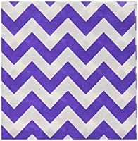 16 pieces disposable lunch paper napkins in new purple chevron