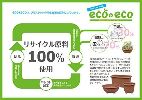 eco&eco ウインプランター 深55型 550×300×H320mm エコブラウン 3個セット