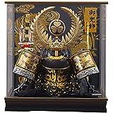 五月人形 ケース入り 着用 兜 徳川 S型 パノラマアクリルケース 幅48cm [fn-15] 端午の節句