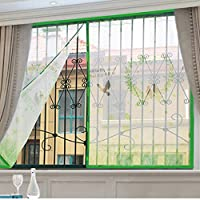 蚊スクリーン画面のミュート, フルフレーム velcro 磁気スクリーン ドア頑丈メッシュ スクリーン透明スナップはスクリーン ドア メッシュを自動的にシャット ダウン-E 180x150cm(71x59inch)