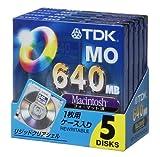 TDK 3.5MO 640MB Macフォーマット5枚パック MO-R640MX5A