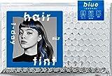 PAF(パフ) ワンデー ヘアティント ブルー 3枚入 〔 1日だけの美発色ヘアティント ・ シートで毛束を挟み滑らせるだけ ・ 速乾タイプで簡単着色 〕 ハロウィン コスプレ 仮装 ライブ パーティー フェス ヘアカラー 3枚入り