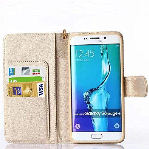 FLY SELINA iPhoneSE / iPhone5s / iPhone5 対応 花柄 ケース 手帳型 横開き レザー 革 カバー マグネット式 カードポケット スタンド機能 アイフォン se 5s 5 用 財布型 カバー ストラップ付き ( iPhone5/5s/se, ベージュ)