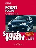 So wird's gemacht. Ford Focus von 10/98 bis 10/04: Pflegen - Warten - Reparieren. Limousine und Turnier. Benziner 1,4l/55 kW (75 PS), 1,6l/74 kW (100 PS), 1,8l/85 kW (115 PS), 2,0l/96 kW (130 PS),alle ab 10/98. 2,0l/127kW (173 PS)ab 3/02. Diesel 1,8l/55 kW (75PS) ab 9/99, 1,8l/66 kW (90 PS) ab 1/99, 1,8l/74 kW (100 PS) ab 9/02, 1,8l/85kW (115 PS) ab 3/01
