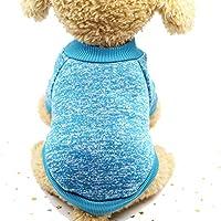 小型犬冬の暖かいコートのクラシックセーターフリースハイグレード8色のセータークリスマス服、青、S