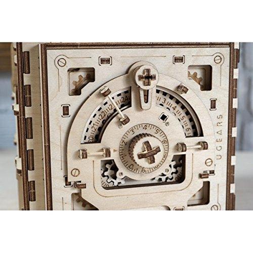 金庫モデル 自分で組み立てて、動く3Dパズル Ugears 日本正規販売 インテリアにも最適