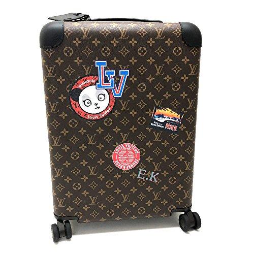(ルイ・ヴィトン) LOUIS VUITTON ホライゾン50 モノグラム ステッカー ニコラ・ジェスキエール スーツケース キャリーバッグ モノグラムキャンバス レディース 新品同様 中古