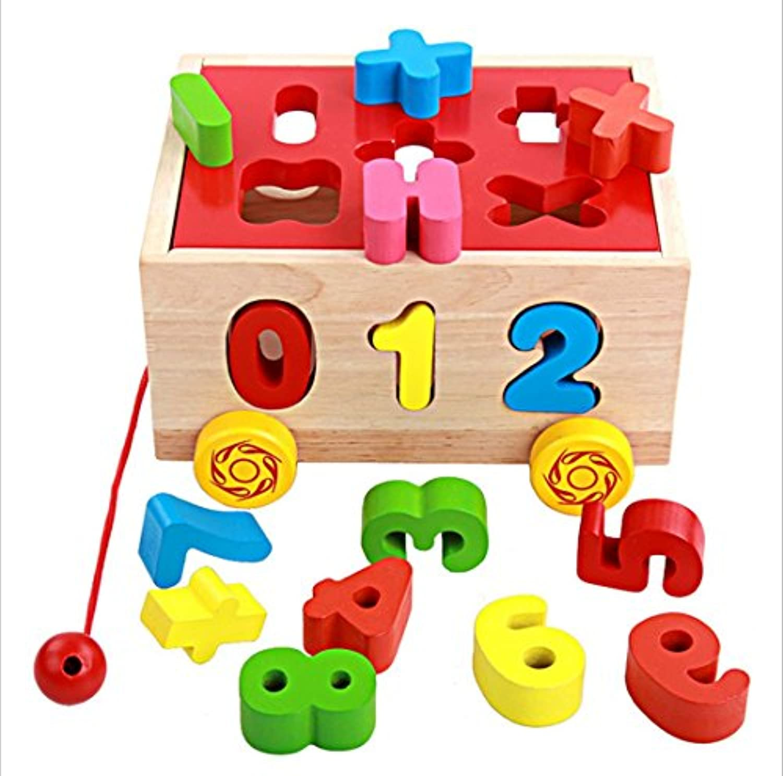 discoverme8木製ボックスシェイプ番号Matchingブロック