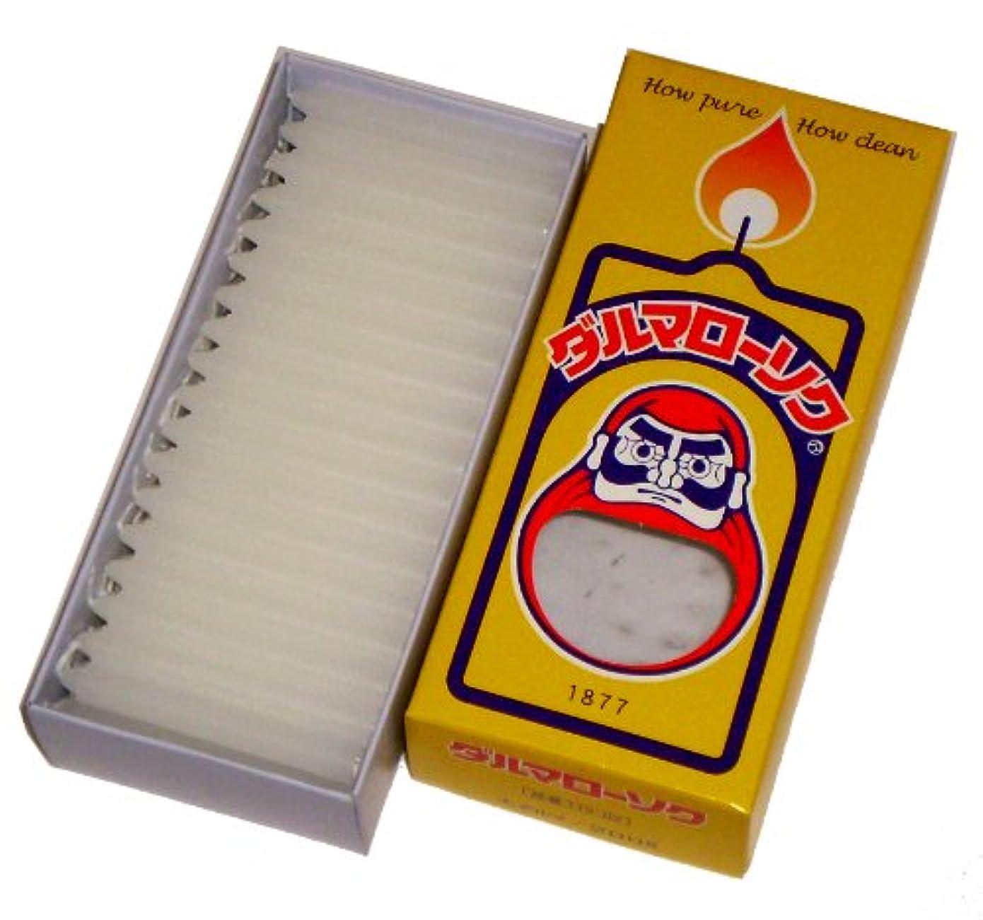 寝てる保守的シャベル東海製蝋のろうそく 太ダルマ200 200g 約86本