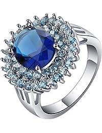 (トヨベイ)Toyobuy エレガント アクセサリー 指輪 レディース メンズ ファッションリング ジルコニア 指輪 誕生日 プレゼント 米国サイズ10号