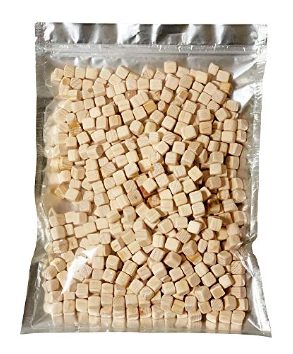 多分増加する雑種kicoriya 国産ヒノキ キューブ状ブロック 1000ml 1L