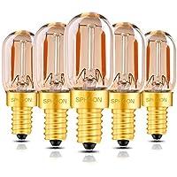 LEDフィラメント球 エジソン LED装飾電球 電球色 2200K T22 チューブゴールド 1W 60lm 非調光対応 LEDストリングライト 発光角360° E12 口金-5個入り
