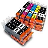 BCI-371XL+370XL/5MP +BK2 【 5色セット 大容量 + 顔料BK 2個 マルチパック 】 Canon キヤノン 互換 インクカートリッジ 残量表示 互換インク | 対応プリンタ | PIXUS MG6930 PIXUS MG7730 PIXUS MG7730F PIXUS MG5730 インク ( BCI-370XLPGBK 顔料 ブラック / BCI-371XLBK 黒 ブラック / BCI-371XLC シアン / BCI-371XLM マゼンタ / BCI-371XLY イエロー / + BCI-370XLPGBK 2個) BCI371 BCI370 371 370 BCI-370BK