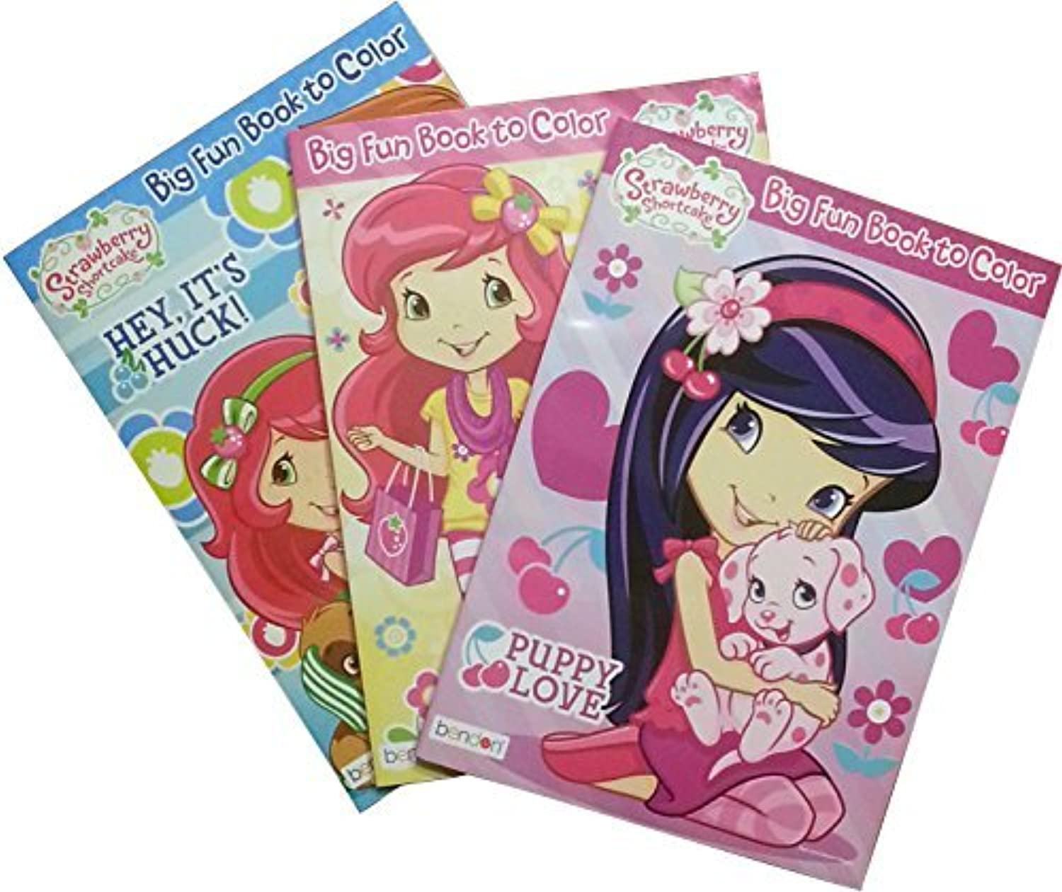 Strawberry Shortcake 3 Coloring Books, 48 Crayons, Bundle by Strawberry Shortcake [並行輸入品]