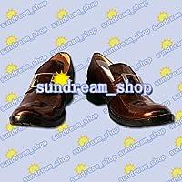 【サイズ選択可】男性25CM★コスプレ靴(茶色) ブーツ★20092★黒執事★シエル・ファントムハイヴ