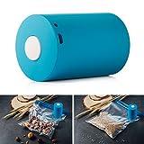 COSYLAND 家庭用 ミニ 真空パック器 真空フードシーラー 食材保存 新鮮度長持ち (青)