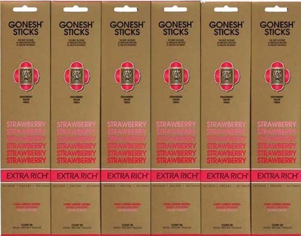 キャロラインエンゲージメントお父さんGONESH STRAWBERRY ストロベリー スティック 20本入り X 6パック (120本)