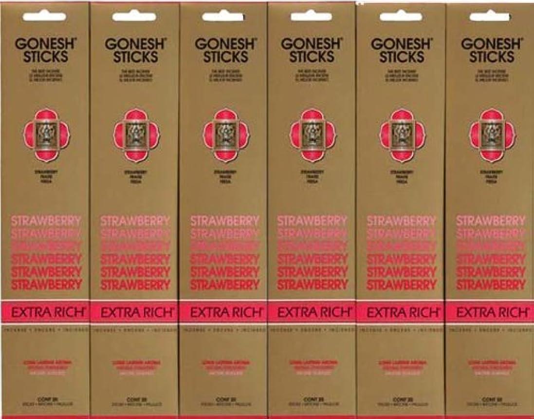具体的にのぞき見帝国主義GONESH STRAWBERRY ストロベリー スティック 20本入り X 6パック (120本)