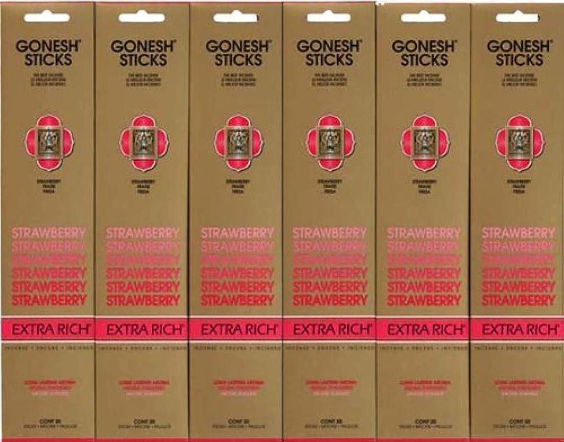 勇敢なイノセンス目に見えるGONESH STRAWBERRY ストロベリー スティック 20本入り X 6パック (120本)