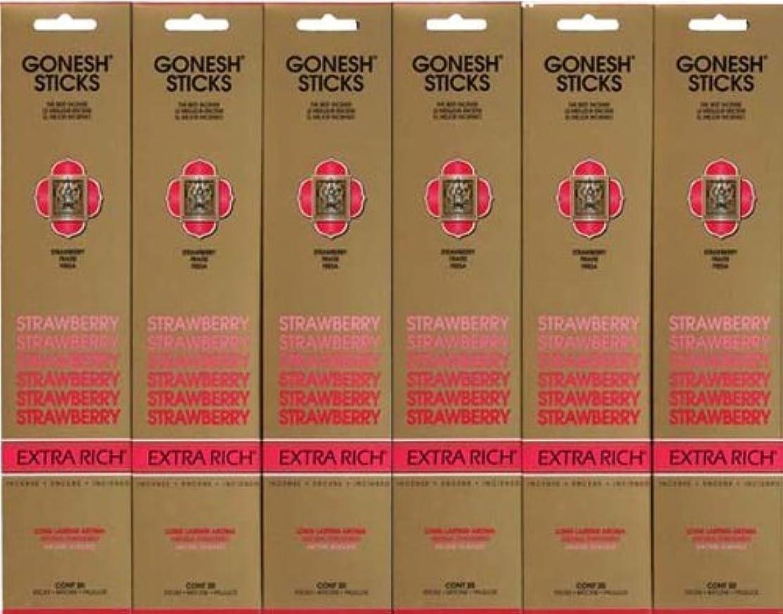 スキム委任するスタイルGONESH STRAWBERRY ストロベリー スティック 20本入り X 6パック (120本)