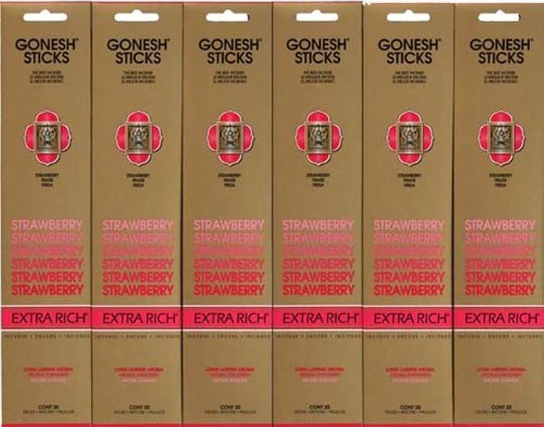 ダーツクラシックGONESH STRAWBERRY ストロベリー スティック 20本入り X 6パック (120本)