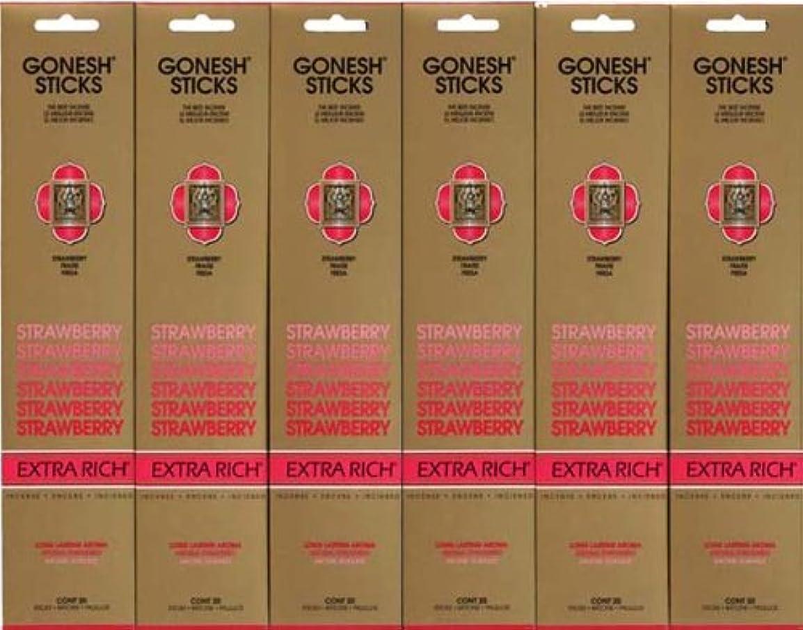 伝染病高さメーカーGONESH STRAWBERRY ストロベリー スティック 20本入り X 6パック (120本)
