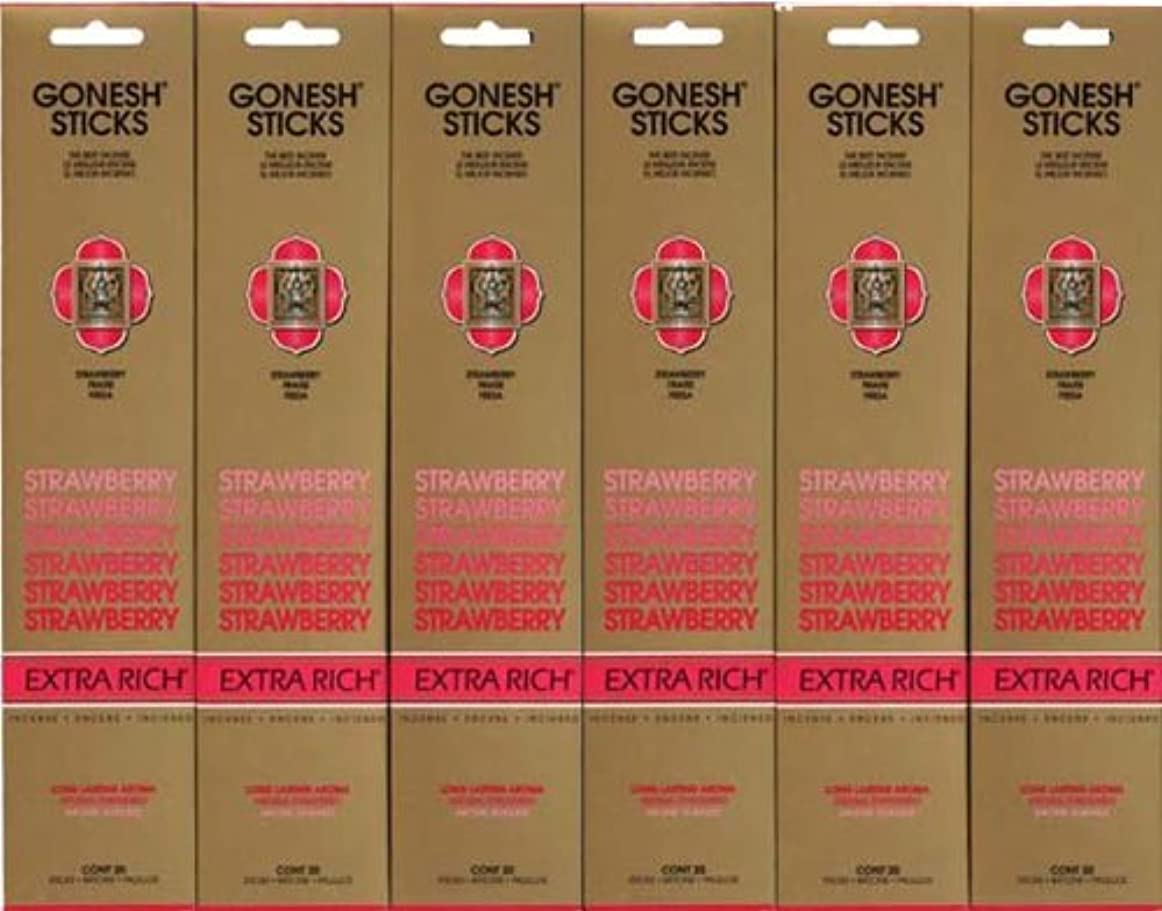 ソーセージウェブ予想するGONESH STRAWBERRY ストロベリー スティック 20本入り X 6パック (120本)