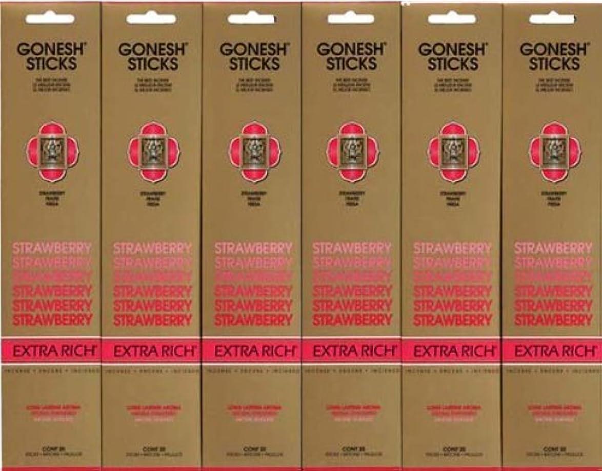 公ウィスキー騒々しいGONESH STRAWBERRY ストロベリー スティック 20本入り X 6パック (120本)