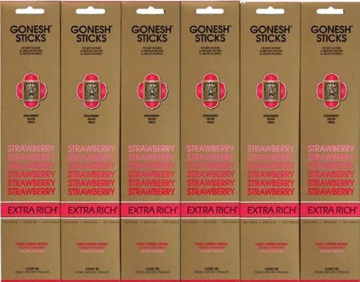 発火する群がる前売GONESH STRAWBERRY ストロベリー スティック 20本入り X 6パック (120本)