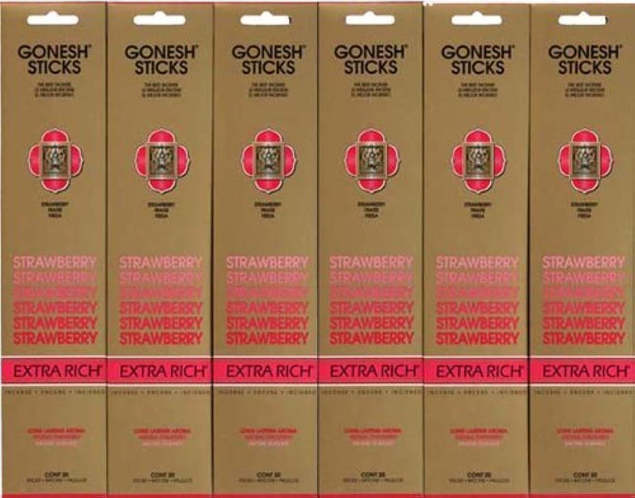 うそつきポジティブ桁GONESH STRAWBERRY ストロベリー スティック 20本入り X 6パック (120本)