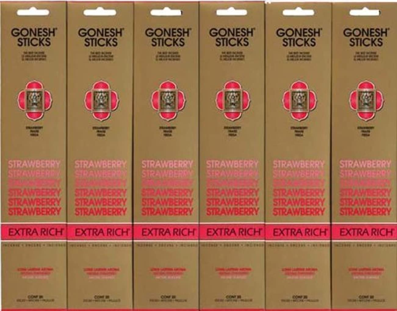 チチカカ湖成功した累計GONESH STRAWBERRY ストロベリー スティック 20本入り X 6パック (120本)