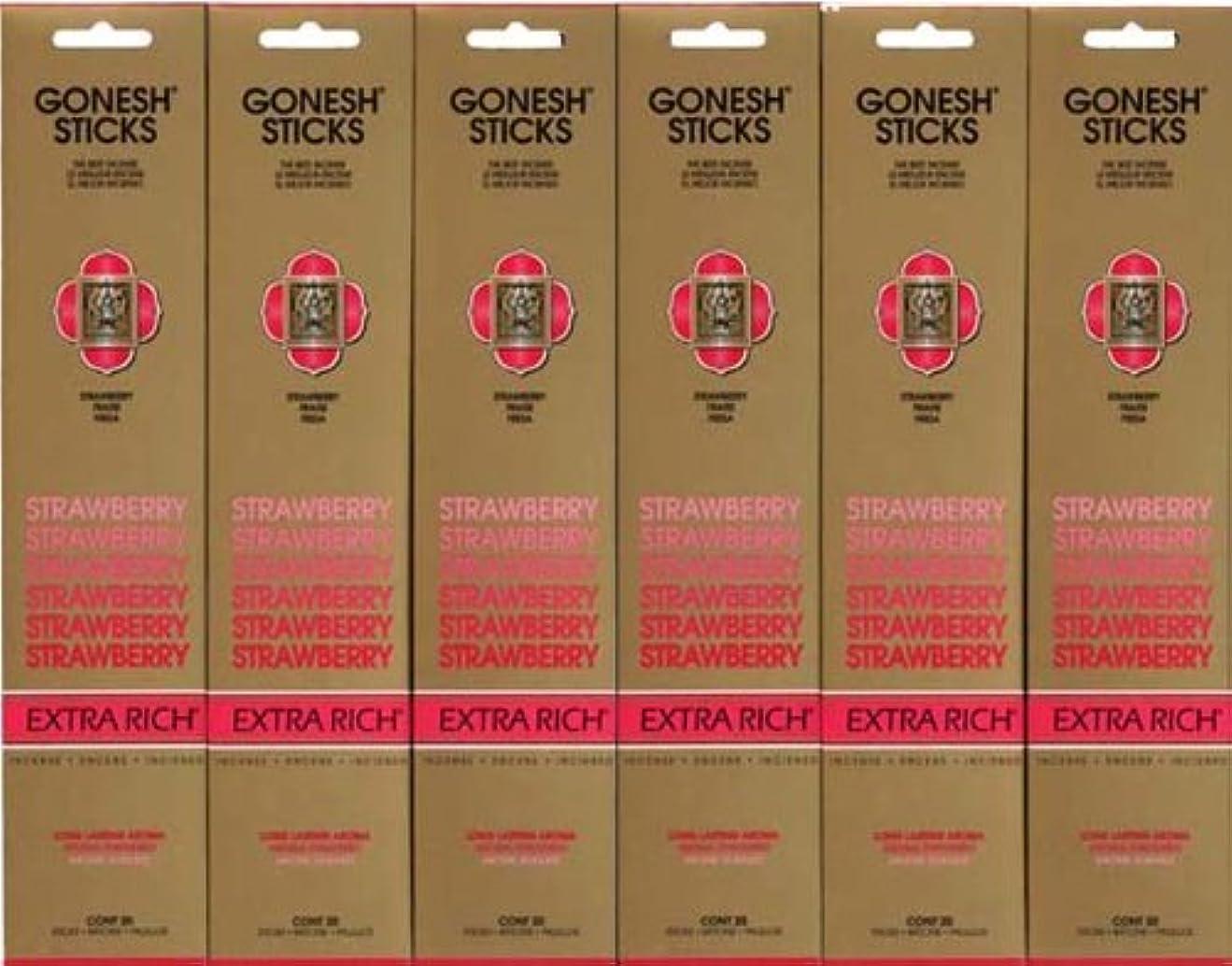 引き出しタオルコメントGONESH STRAWBERRY ストロベリー スティック 20本入り X 6パック (120本)