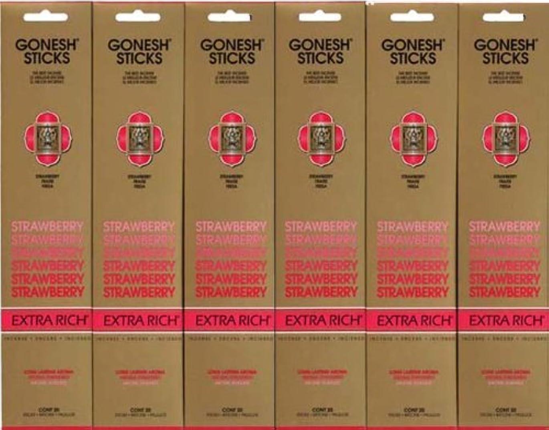 柔らかい足観客宅配便GONESH STRAWBERRY ストロベリー スティック 20本入り X 6パック (120本)