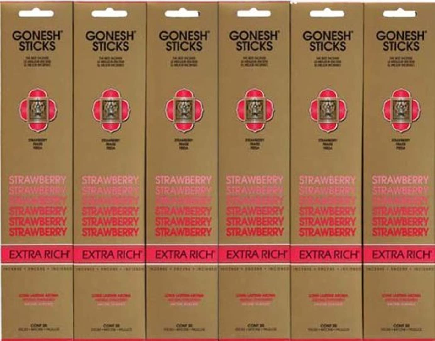 短命ジャンクション悪のGONESH STRAWBERRY ストロベリー スティック 20本入り X 6パック (120本)