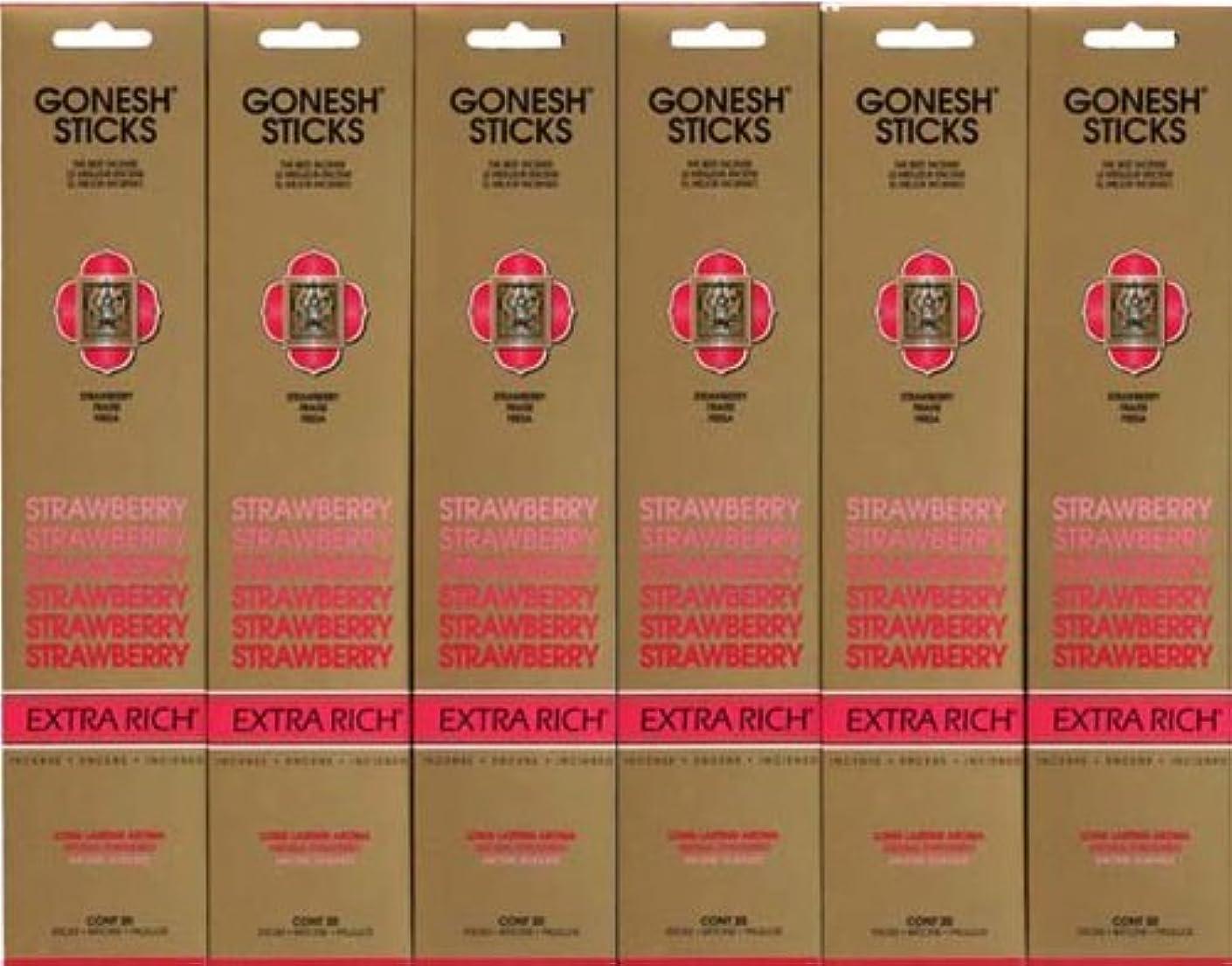 社会主義者冷ややかな大使GONESH STRAWBERRY ストロベリー スティック 20本入り X 6パック (120本)