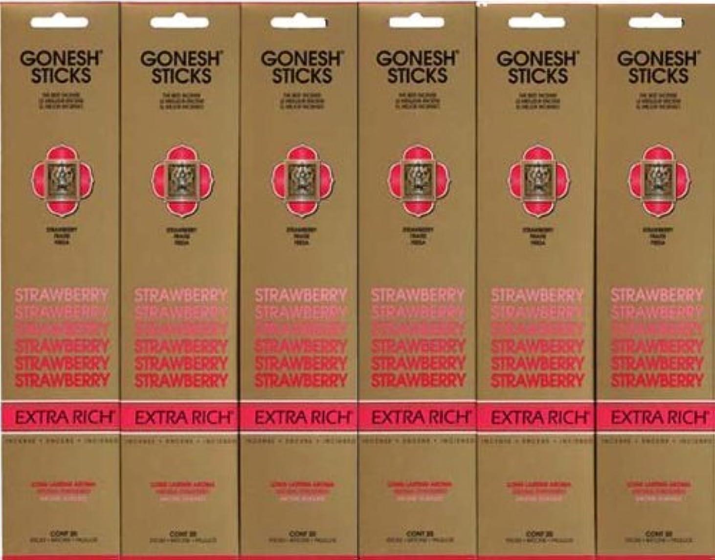 ブローどっち集中GONESH STRAWBERRY ストロベリー スティック 20本入り X 6パック (120本)