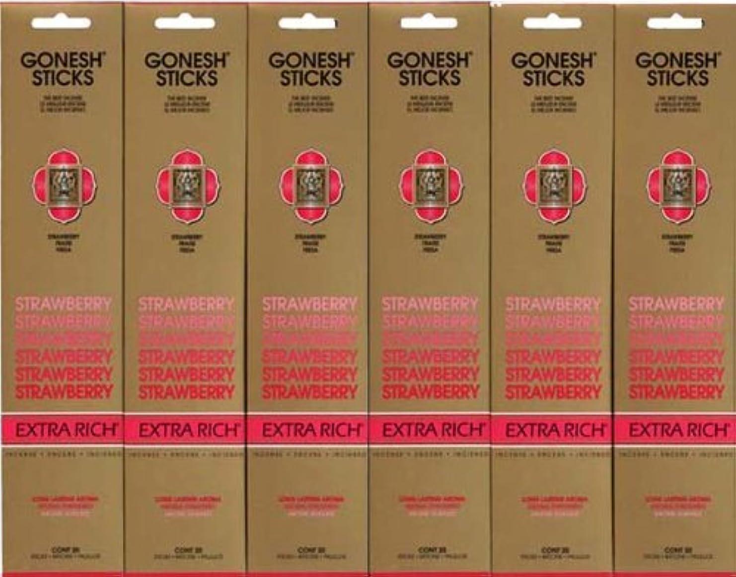 使い込む本質的に永久GONESH STRAWBERRY ストロベリー スティック 20本入り X 6パック (120本)