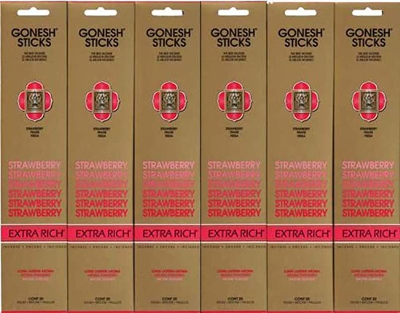 対話葉を集めるネックレスGONESH STRAWBERRY ストロベリー スティック 20本入り X 6パック (120本)