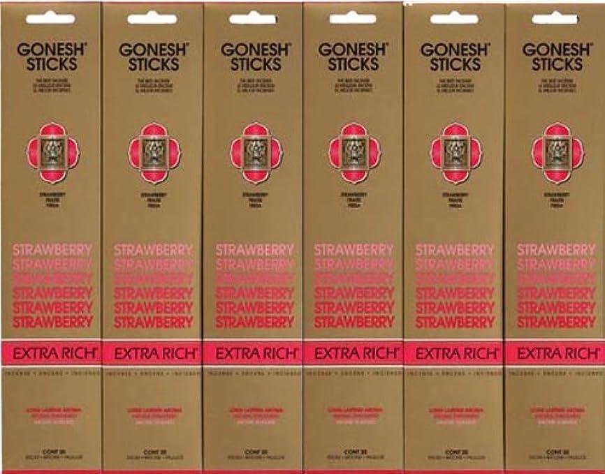 戻すブッシュ補足GONESH STRAWBERRY ストロベリー スティック 20本入り X 6パック (120本)