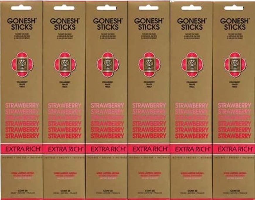 フクロウロゴ代理店GONESH STRAWBERRY ストロベリー スティック 20本入り X 6パック (120本)