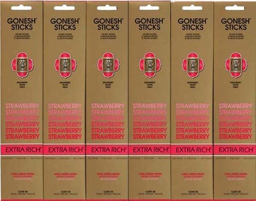 美容師食料品店病なGONESH STRAWBERRY ストロベリー スティック 20本入り X 6パック (120本)
