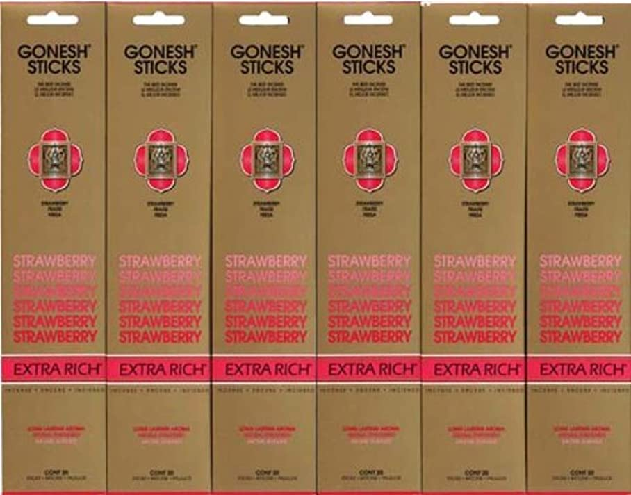 パケット伝える車GONESH STRAWBERRY ストロベリー スティック 20本入り X 6パック (120本)