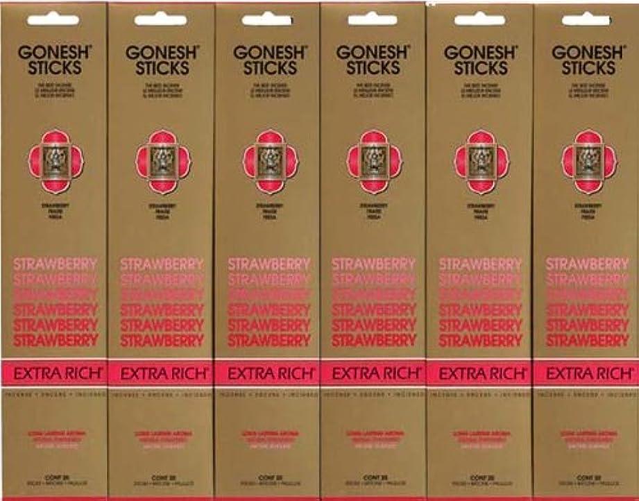 ひそかに田舎者変成器GONESH STRAWBERRY ストロベリー スティック 20本入り X 6パック (120本)