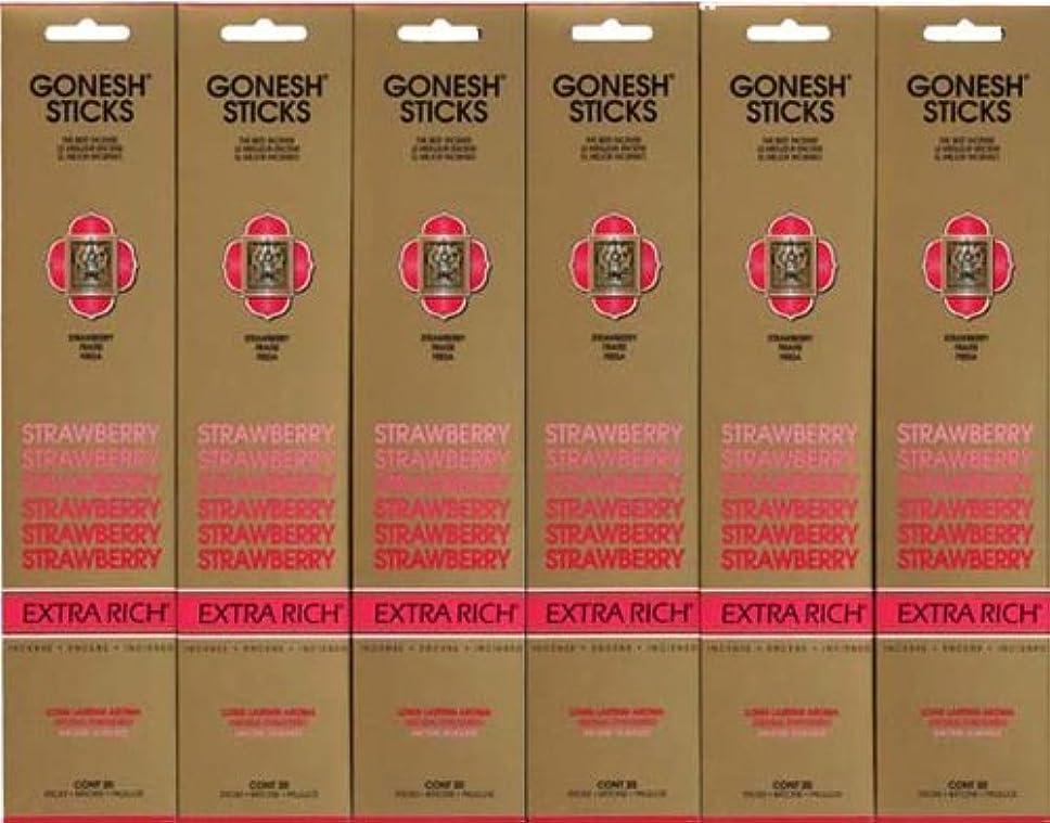 履歴書したがって不確実GONESH STRAWBERRY ストロベリー スティック 20本入り X 6パック (120本)