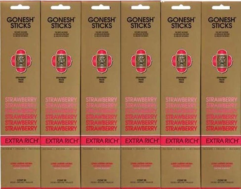 中でプロテスタント軽蔑するGONESH STRAWBERRY ストロベリー スティック 20本入り X 6パック (120本)