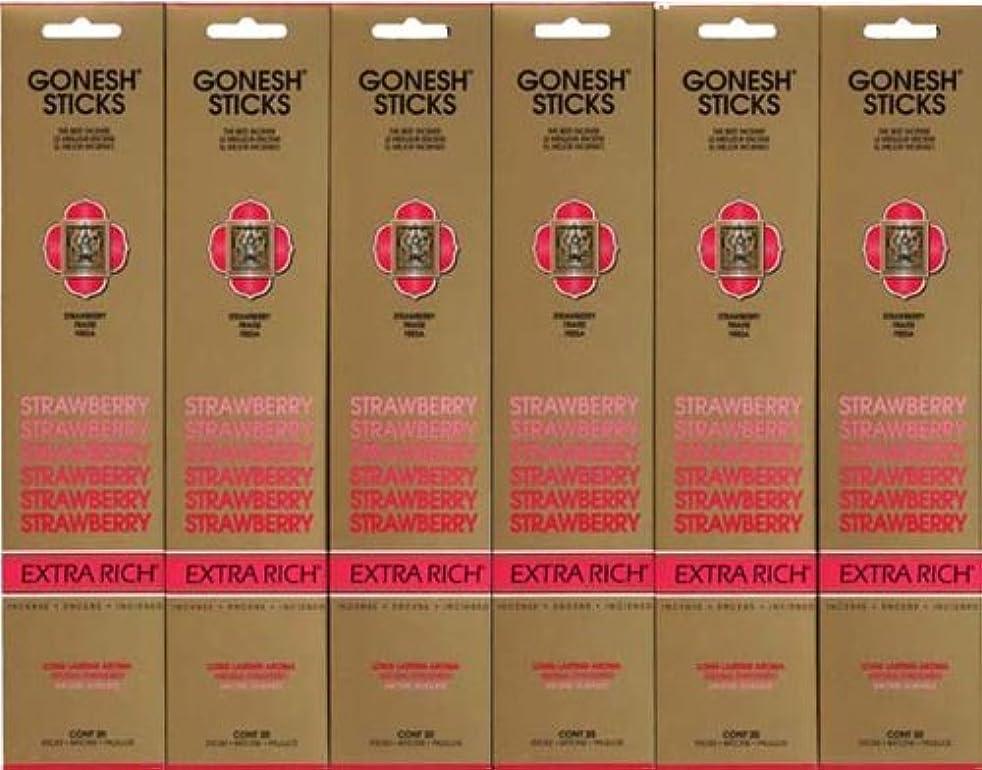 ナインへ早いオークションGONESH STRAWBERRY ストロベリー スティック 20本入り X 6パック (120本)