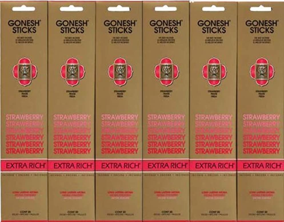 正当な生じる祖母GONESH STRAWBERRY ストロベリー スティック 20本入り X 6パック (120本)