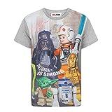 (レゴxスター・ウォーズ) Lego Star Wars オフィシャル商品 子供用 半袖 キャラクター Tシャツ 男の子